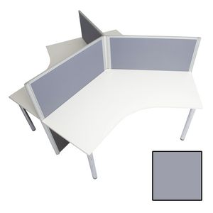 Rapid Screen 3 Person Workstation Grey Screen White Top