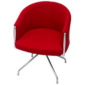 Rapidline Splash Club Lounge Chair Chrome Trim and Base Red