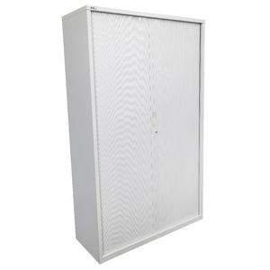 GO Tambour Door Cupboard 1981 x 900mm Silver Grey