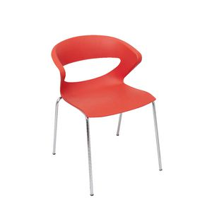 Rapidline Taurus Chrome 4 Leg Chair Red