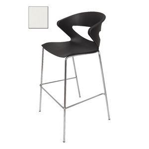 Rapidline Taurus Bar Stool with Chrome Base White
