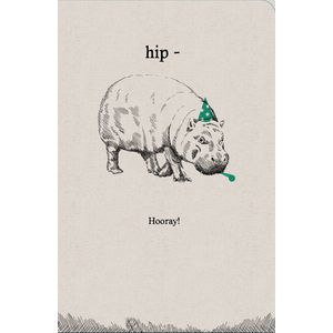 Frankly Funny Birthday Card Hip Hippo