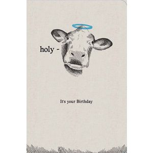 frankly funny birthday card holy cow officeworks