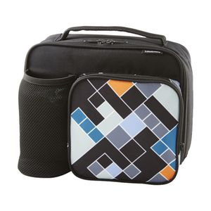 Studymate Mesh Tote Lunch Bag Geometric Black