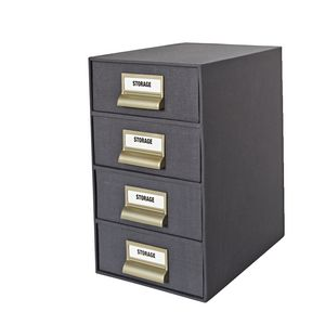 4 High Storage Drawers Cloth Charcoal