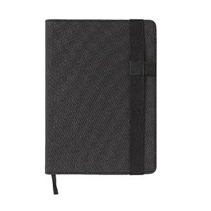 A5 Ruled Notebook 384 Page Black Canvas