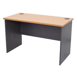 Furnx Open Straight Desk 1500 x 750mm Beech and Ironstone
