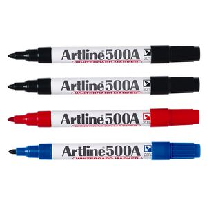 Artline 500A Whiteboard Markers Assorted Colours 4 Pack