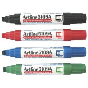 Artline 5109A Whiteboard Markers Assorted Colours 6 Pack