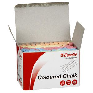 Esselte Chalk Assorted 100 Pack