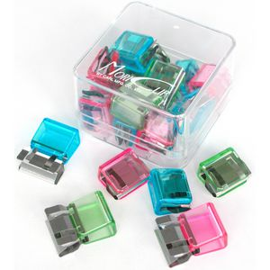 Carl 60 Page Mori Clips Assorted Colours 18 Pack