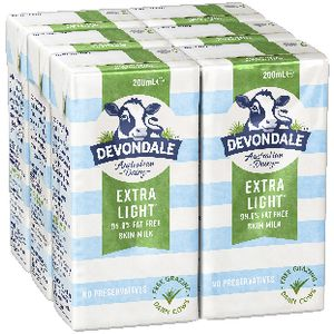 Devondale Skim UHT Milk 200mL 6 Pack