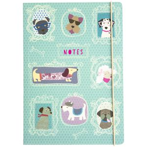 GO Stationery A5 Dog Notebook Light Blue