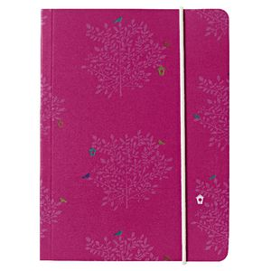 Go Stationery A6 Chunky Notebook Cerise Trees 320 Page