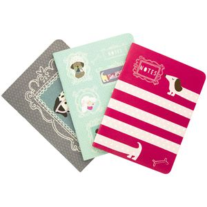 GO Stationery Dog Notebook Assorted 3 Pack