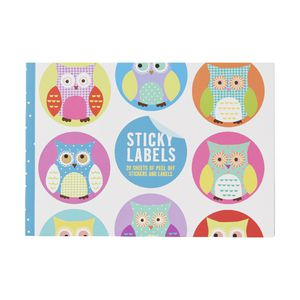 GO Stationery Sticky Labels Owls