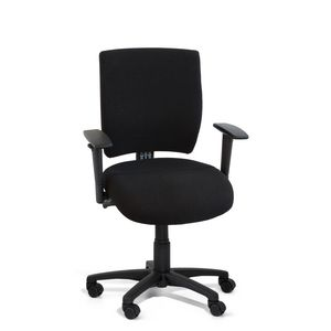 Gregory Scope Medium Back Chair with Arms Black
