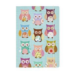 GO Stationery A5 Notebook Teal Owls