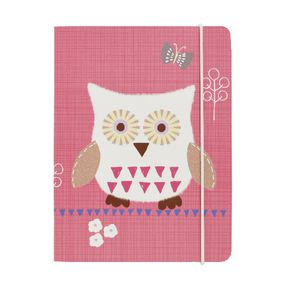 GO Stationery A6 Chunky Notebook Pink Owls