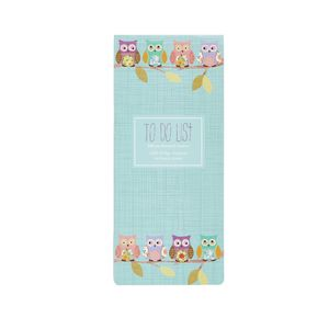GO Stationery To Do List Pad Teal Owls