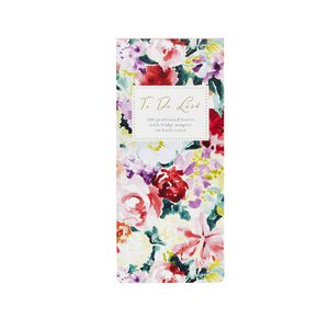 Go Stationery To Do List Pad Watercolour Lily