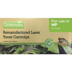 Greentec Toner Cartridge Black HP7115XREM