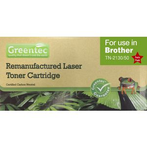 Greentec Alternative Brother TN2150 Toner Black 2 Pack