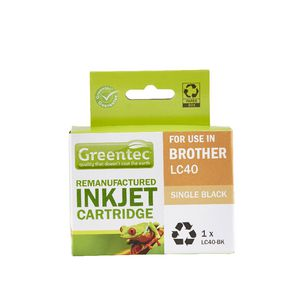 Greentec Brother LC40 Ink Cartridge Black