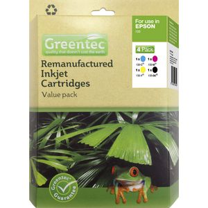 Greentec Epson 133 Black and Colour 4 Ink Value Pack