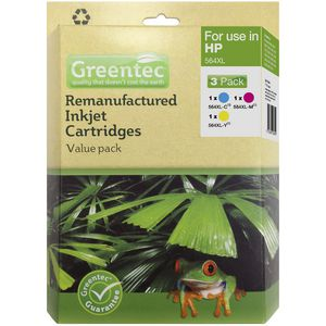 Greentec HP 564XL Ink Cartridge 3 Pack