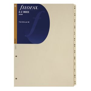 Filofax A4 Organiser Refill with Cream Tabs