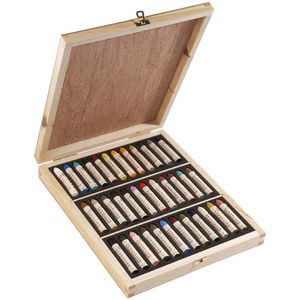 Sennelier Oil Pastels Wooden Box Set of 36 Assorted