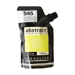 Sennelier Abstract Acrylic Satin Cad Yellow Lemon Hue 120 mL