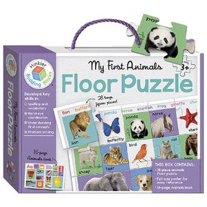 Hinkler My First Animals Building Blocks Floor Puzzle