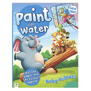 Hinkler Paint with Water Activity Book Baby Animals