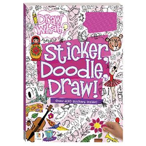 Hinkler Sticker Doodle Draw Activity Book Pink