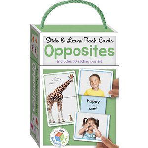 Building Blocks Slide and Learn Flash Cards Opposites