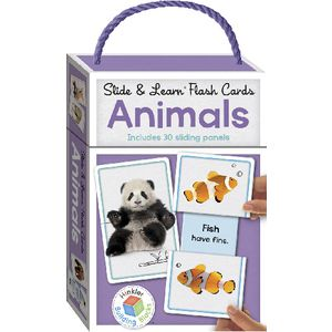 Building Blocks Slide and Learn Flash Cards Animals