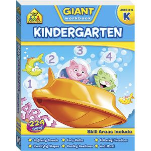School Zone Giant Workbooks Kindergarten