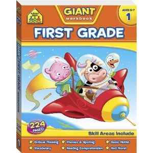 School Zone Giant Workbooks Year 1
