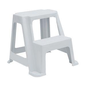 2 step stool 150kg white