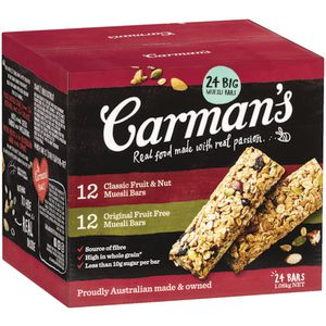 Carman's Traditional Muesli Bars 24 Pack Variety at Officeworks in Campbellfield, VIC | Tuggl