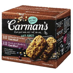 Carman's Nut Free Oat Slices 24 Pack Variety