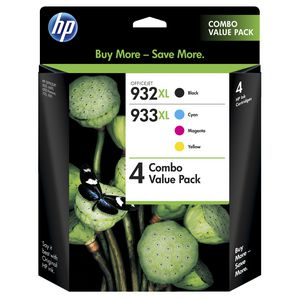 HP 932 and 933 XL Ink Combo Value 4 Pack