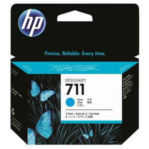 HP 711 Ink Cartridge Cyan 29mL 3 Pack