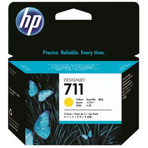 HP 711 Ink Cartridge Yellow 29mL 3 Pack