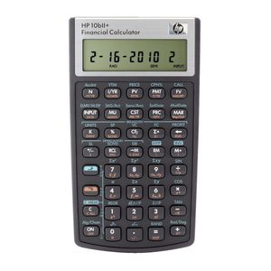 HP 10bII+ Financial Calculator Black