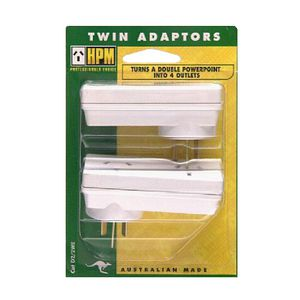 HPM Slimline Double Adaptors Twin Pack