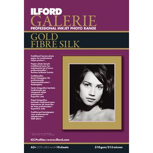 Ilford Galerie Gold Silk Photo Paper A3+ 10 Pack