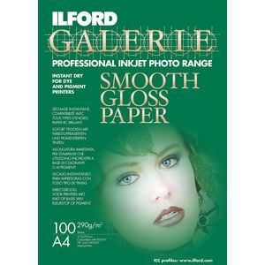 Ilford Galerie Smooth Gloss Photo Paper A4 100 Pack